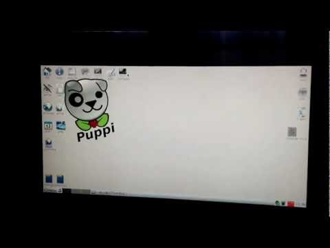 Puppy Linux on raspberry pi motherboard July 4 2012