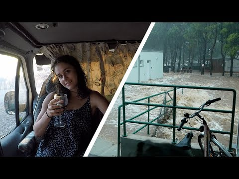 Our Van got caught in a FLASH FLOOD! (The Wildering Camper) Ep. 6