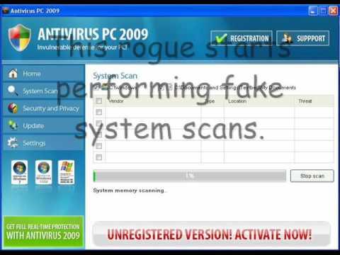 Beware Antivirus PC 2009 - It's a Rogue!!!