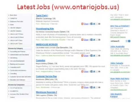 Ontario Jobs | Jobs in Ontario | City of Ontario Jobs
