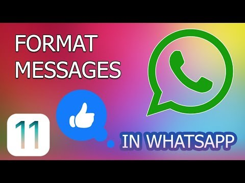 How to Format Messages in WhatsApp for iPhone
