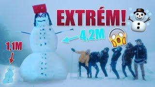 Postavili sme GIGANTICKÉHO snehuliaka! [SVETOVÝ REKORD]
