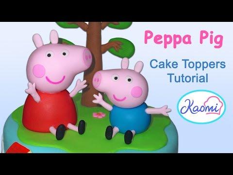 Peppa Pig and George (Cake Toppers) / Cómo hacer a Peppa pig y a George para tortas
