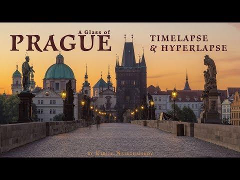 A Glass of Prague. Timelapse & Hyperlapse. Czech Republic