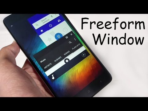 How To Enable Freeform Window Mode On Android Nougat without Rooting Freeform Multi Window Mode