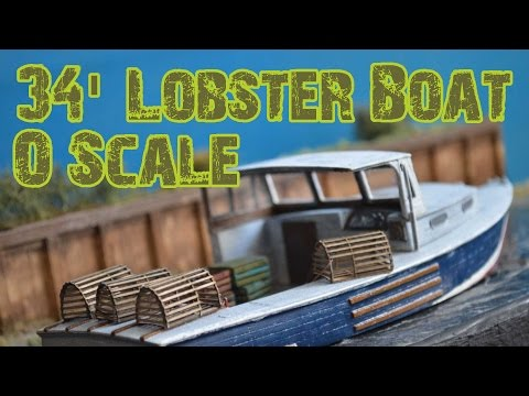O Scale 34' Lobster Boat | Frenchman River Model Works