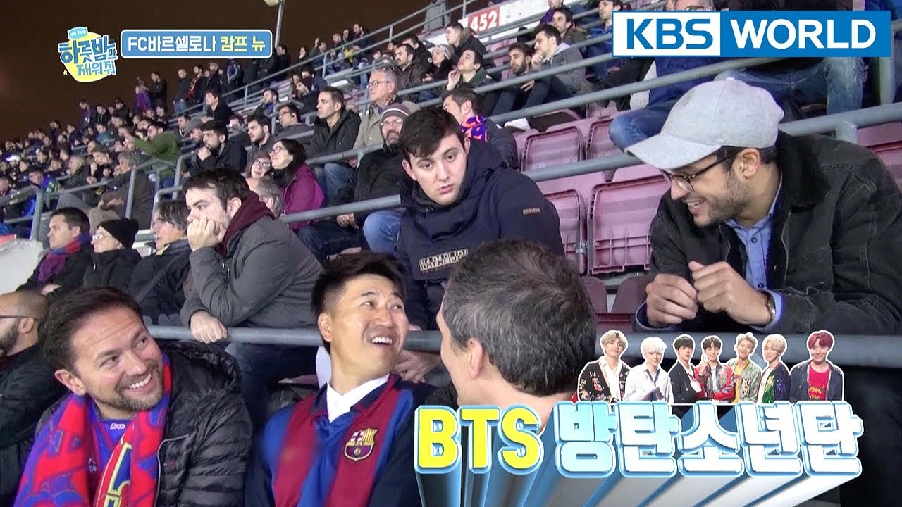 Jongmin turns out to be a popular star in Spain? NVM. It's BTS [One Night Sleepover Trip/2018.04.03]