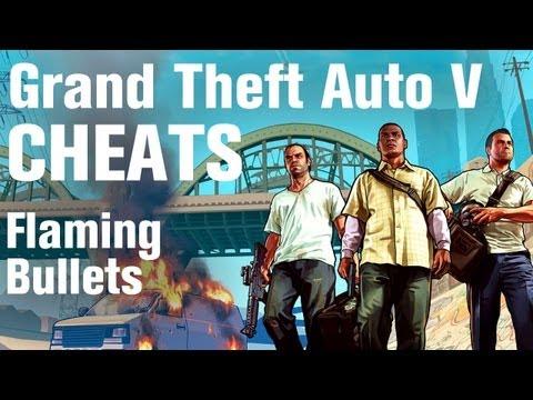 GTA 5 Cheats - Flaming Bullets