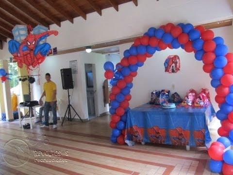 Decoracion con globos del hombre ara a decoraci n for Ornamentacion de 15 anos