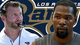 Kevin Durant JUMPS On LA Rams Bandwagon! Can KD SURVIVE In The NFL?