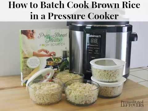 How to Cook Brown Rice in a Pressure Cooker - Easy Meal Prep Technique