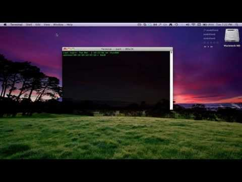 How to Get A Cool Looking And Transparent Terminal In Mac OS X
