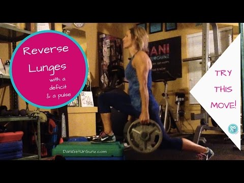Reverse lunge with deficit (this video showing the added pulse)