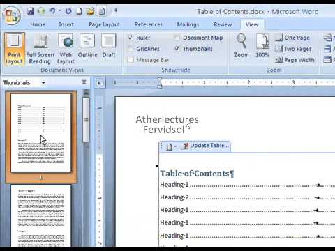 Lecture No 20 Using View Tab Ms Word 2007 Computer Training in Urdu