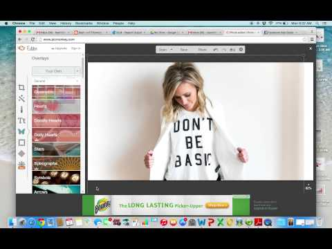 create a FB ad with picmonkey