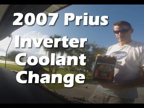 Changing inverter coolant fluid 2007 Toyota Prius