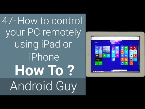 How to control your PC remotely using iPad or iPhone ?