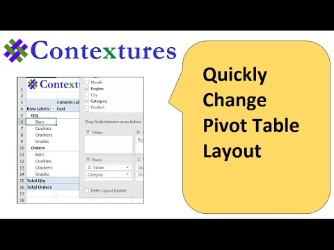 Make Quick Changes to Pivot Table Layout