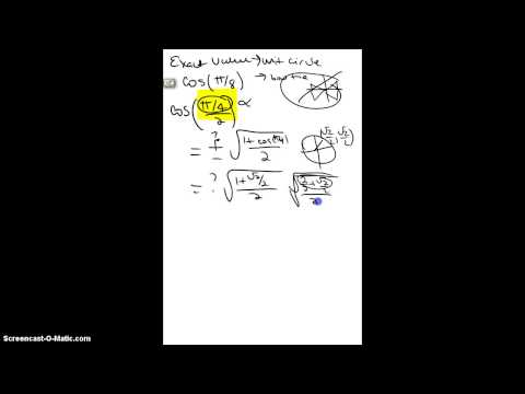 cos(pi/8) using half angle