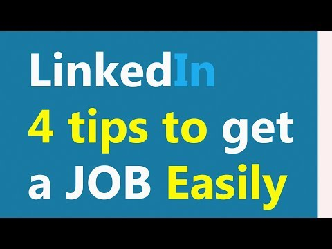 How to Get a Job Through Linkedin - Use Linkedin to Find a Job Easily - BEST TIPS