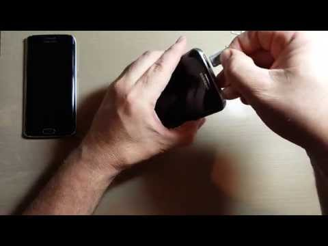 Samsung Galaxy S6 edge Sim Card Remove and Replace
