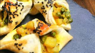 Vegetable puff pastry │Pastry Filling with Vegetables │ Veg Recipes