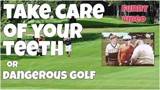 Take care of your teeth or dangerous golf ★ Epic FUNNY Video 😂