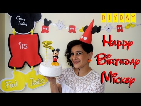Mickey Mouse Birthday Party | Fun DIY Ideas