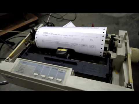 old dot matrix Epson LX-300 printing..