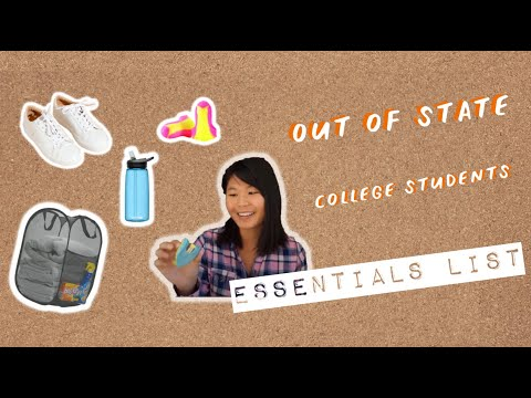 What To Bring To College | Out of State Students Edition