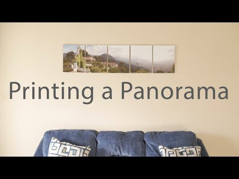 How To Create a Hanging Panorama (DIY Panoramic Panels)