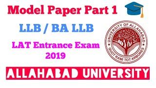 Download AU LLB 3year Model Paper   Also important for BA /BA LLB Video