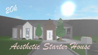 Green Aesthetic Starter House Speed Build Roblox Bloxburg