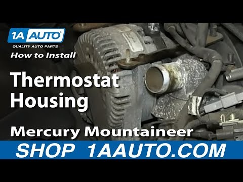 How To Install Replace Thermostat Housing 2002-05 4.6L V8 Explorer Mountaineer