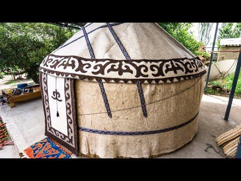 HOW TO BUILD A YURT - Kyzyl-Tuu, KYRGYZSTAN