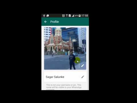 How to change the profile picture in Whatsapp