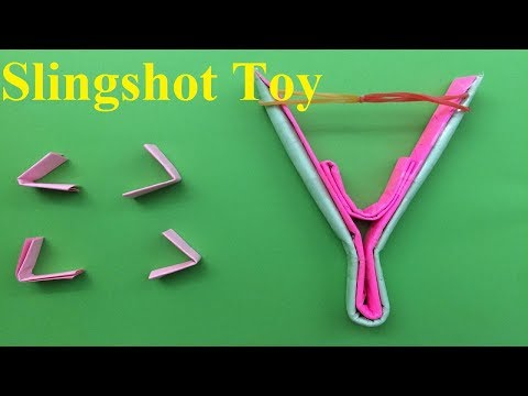 How to make a paper slingshot - toy weapon