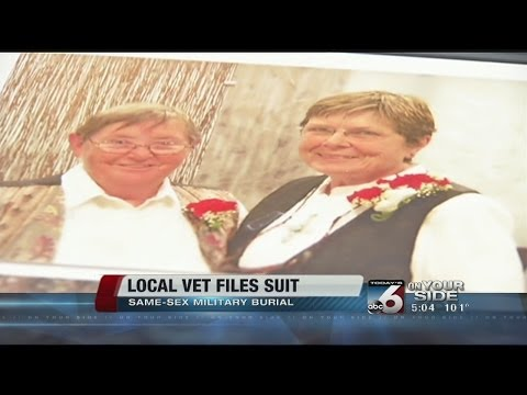 Vet sues after burial plot with gay partner denied