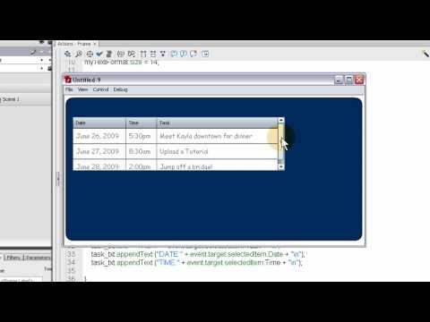 Flash AS3 DataGrid Component Tutorial: ActionScript 3.0
