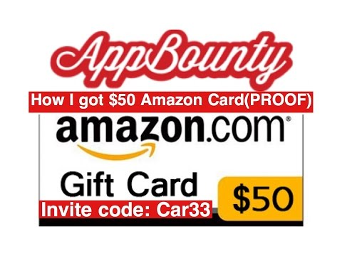 AppBounty - How I got $50 Amazon gift card (PROOF) My invite code