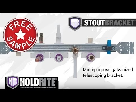 HOLDRITE Stout System - Telescoping Design Supports PEX, Copper, CPVC and Various Other Pipe Types