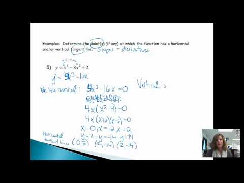 Horizontal and Vertical Tangent Lines