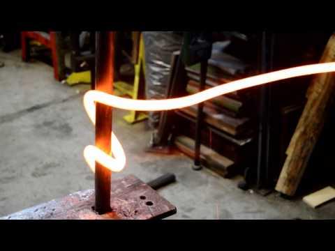 Straightening Coil Springs for Blacksmith Work