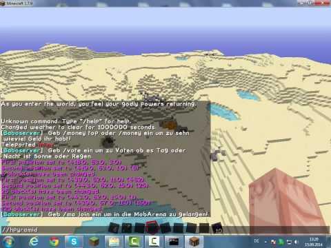 Minecraft 1.7.9 Worldedit Befehle Tutorial