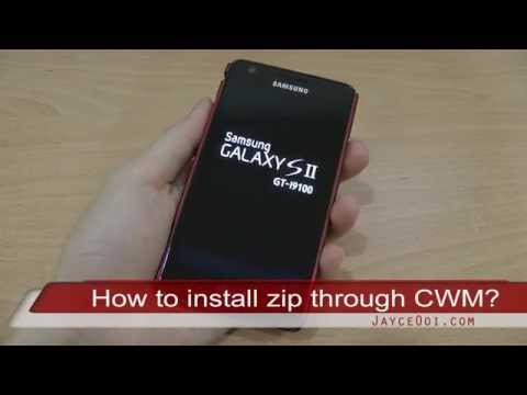 How to install update zip with ClockworkMod Recovery on Samsung Galaxy S2?