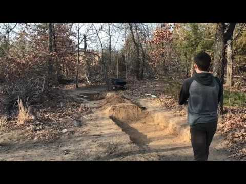 Trail Building Time Lapse(tabletop jump)- A/W Mountain Biking