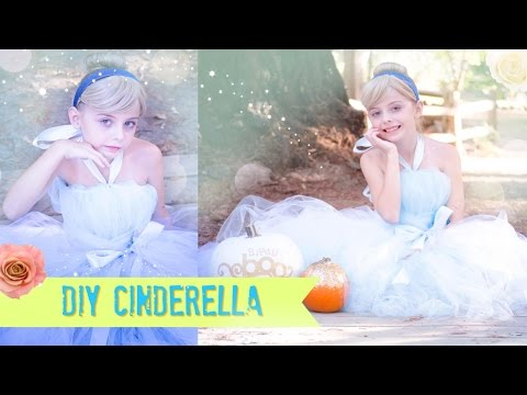 DIY Cinderella NO SEW Tutu Dress Costume