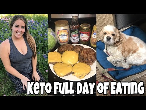 Keto Full Day of Eating | Grilling Hamburgers! | Disc Golf