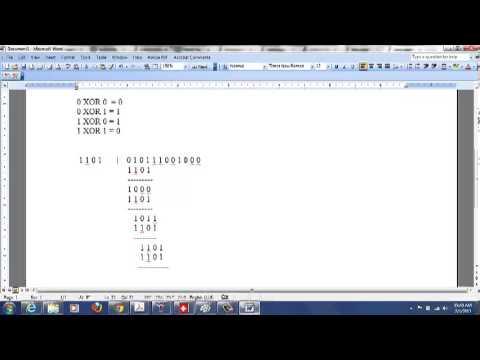 Cyclic Redundancy Check(CRC) example - Usb Crc16 C Code