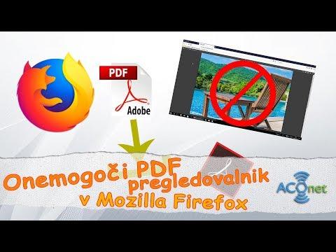 Kako onemogočiti PDF pregledovalnik v Mozilla Firefox spletnem brskalniku?